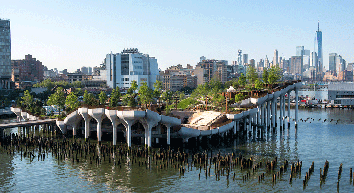 Little Island - bynatur på Hudsonfloden. Hør fra Lisa Finlay på Building Green